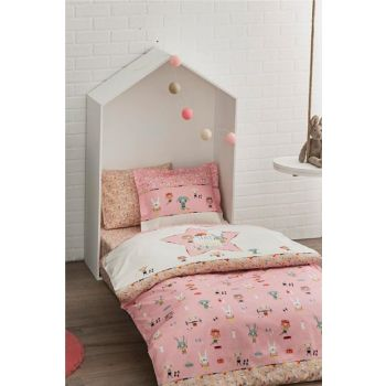 Ranforce Baby Duvet Cover Set Game Pink 60185459