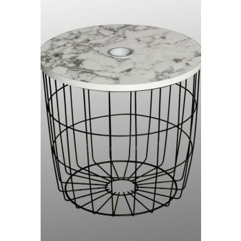 Pot Stand - Marble Patterned / Black Foot OBQPOTASHPA2
