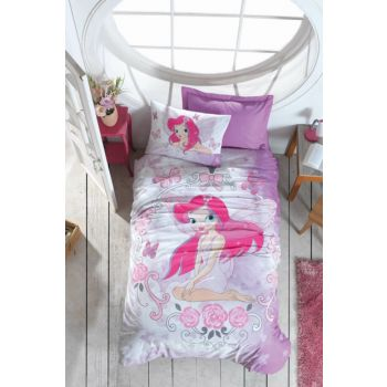 Cotton Box Junior Single Ranforce Duvet Cover Set - Fairy Lila 1186775017051