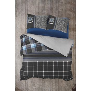 Masculine Ranforce Single Duvet Cover Set Roberto 8680108044230