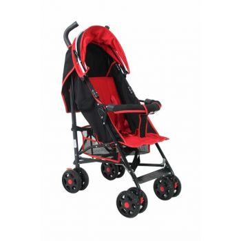 Junior Baston Baby Stroller Red Black RV101
