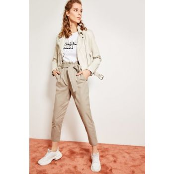 Stone Belted Trousers TCLSS19OC0003