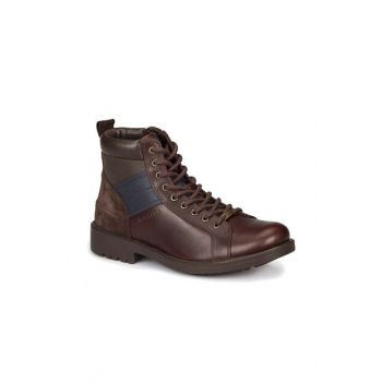 Men's Boots & Bootie - 219044 Brown Men's Leather Boots-000000000100263868