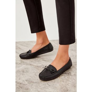 Black Women's Loafer Shoes TAKSS19OZ0002