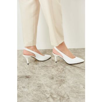 White Women's Heels Shoes TAKSS19ZS0018
