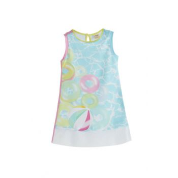 Girl Kids Sleeveless Dress Printed SBAKCELB508_00-0009 SBAKCELB508