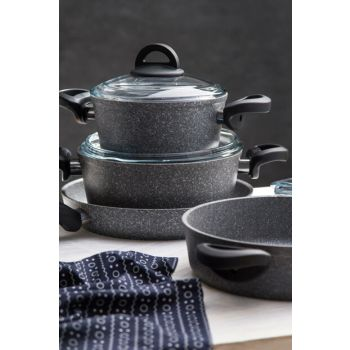Titangranit 7 Pieces Ideal Cookware Gray 600.04.01.0094