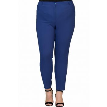 Women's Indigo Ankle Length Narrow Hem Trousers PT2138