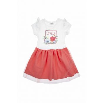 Girl Child Knitted Dress Coral SBGKCELBS21108_00-0030