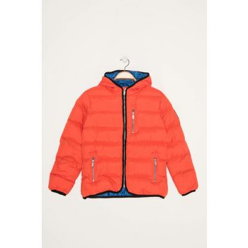 Orange Unisex Kids Coats
