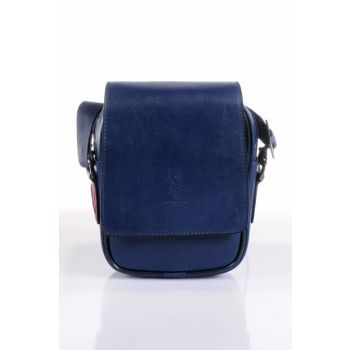Navy Blue Unisex Messenger Bag Plevr8430