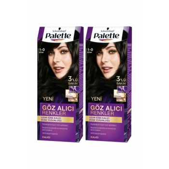 Intense Eye-catching Color Hair Dye 1-0 Blackx 2 Pack SET.HNKL.293
