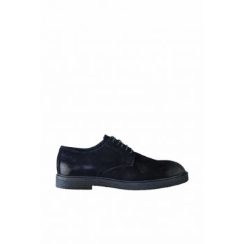 Genuine Leather Suede Navy Blue Men Shoes 120130003748 120130003748