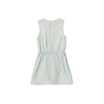 Girl Kids Sleeveless Denim Dress Light Blue 15YKCELB443 15YKCELB443