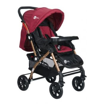 Tommybaby Eagle Gold Aluminum Lux Double Direction Baby Stroller 2019 Burgundy AL-2-1