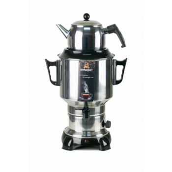 Gift 1100W Classic 6 Liter Large Size Samovar with Thermostat (Black) KEA-CYC-ARM-0003