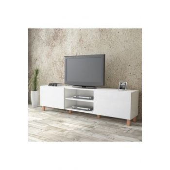 Aqua Tv Unit High Gloss 180cm 2 Cover White AU4-W2K-WW 1286366