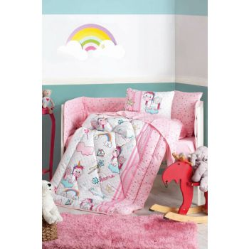 Cotton Box Ranforce Baby Sleep Set Unicorn Pink 1256798003000