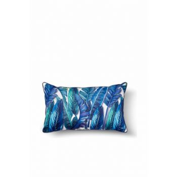 Tropical Cushion Banana Palm Blue 50x30 Cm YST0063