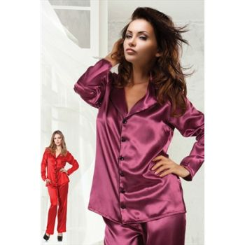 Satin Pajamas Suit 001-018466
