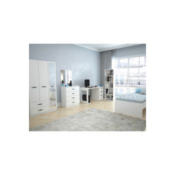 Texas Mirrored 3 Doors 2 Drawers Young Room (Bright White) 123TEKSAS004