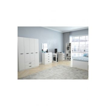 Texas Teen Room with 4 Doors and 2 Drawers (Bright White) 123TEKSAS007