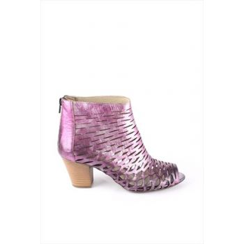 Genuine Leather Purple Mother of Pearl Women Heels Shoes 20375