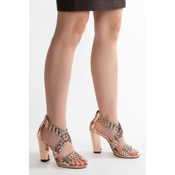 Bronze Women's Heels Shoes CFT6303