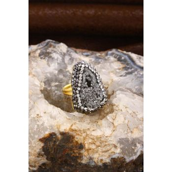 Women's Natural Stone Quartz Ring 20Ar222 20AR222