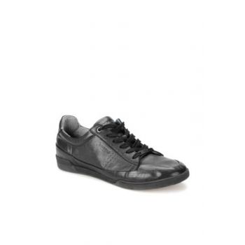 Genuine Leather Black Black Men's Casual Shoes 000000000100371183