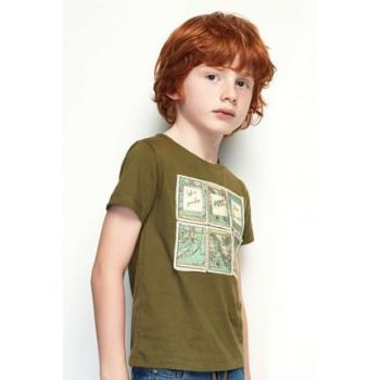 Boys' Khaki T-Shirt 19SS0NB3541