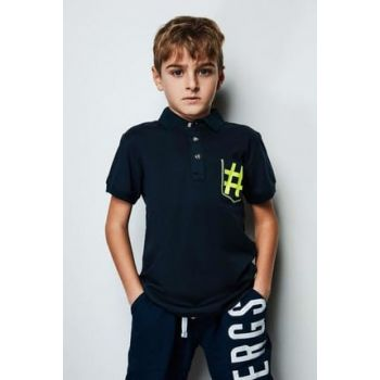 Boys' Navy Blue T-Shirt 19SS0NB3520