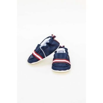 Baby Boy Navy Blue Booties 19SS0BG1029