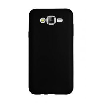 For Samsung Galaxy J7 2016 (J710) Premium Simple Silicone Back Cover Black 42109215