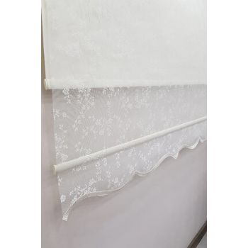200X260 Double Mechanism Tulle Curtain and Roller Blinds MT4003 8605481004762
