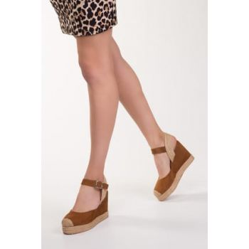Taba Suede Women's Wedge Heeled Shoes 12905