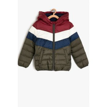 Navy Blue Boys Hooded Coats 9KKB26705OW