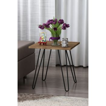 Helen Metal Side Table With Side Table Walnut 8681506224736