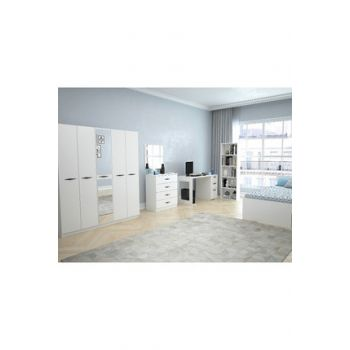 Texas Mirrored 5 Doors Young Room (Bright White) 123TEKSAS010