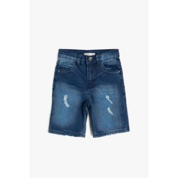 Blue Boy Kid Pocket Detailed Jean Shorts 9YKB46971OD