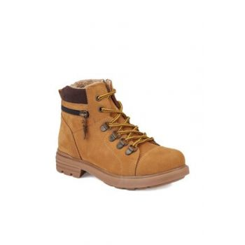 Yellow Men's Leather Worker Boots KARDANO