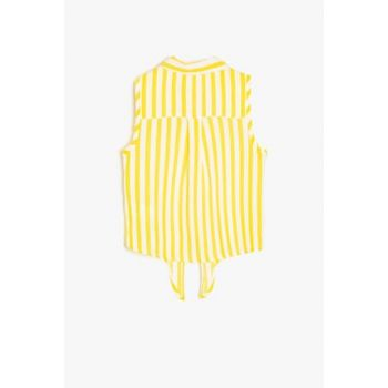 Yellow Girl Kid Striped Shirt 9YKG67950OW