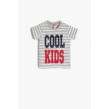 Gray Baby Boy Printed T-Shirt 9YMB18985OK