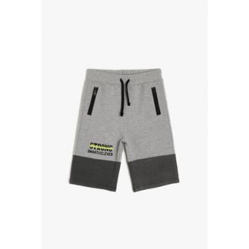 Gray Boys' Printed Shorts 9YKB46091OK