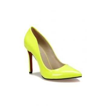 Neon Yellow Women's Heels Shoes 000000000100443378