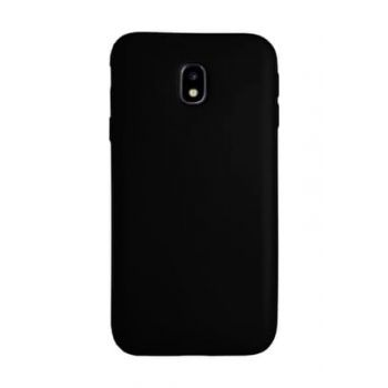 For Samsung Galaxy J7 Pro (J730) Premium Simple Silicone Back Cover Black 42109395