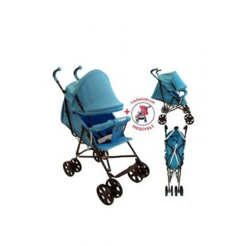 Keeper Full Sleeping Cane Baby Stroller + Rainy Gift - Red (Ultra Light) 1764516
