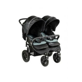 814 Sweety Twin Baby Stroller Black 353254-00010_R001