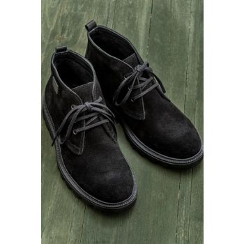 JOOE Genuine Leather Black Men Boots 18KSAP-8800