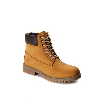 Genuine Leather Yellow Men's Boots 100263720.J79 100263720.J79